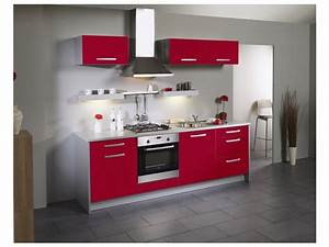 Cuisine Saga But : meuble de cuisine rouge laqu id es de d coration int rieure french decor ~ Dallasstarsshop.com Idées de Décoration