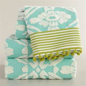 aqua sculpted geo daisy bath towel collection world market With aqua towels bathroom