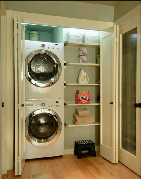 laundry closet the stackable washer dryer really frees