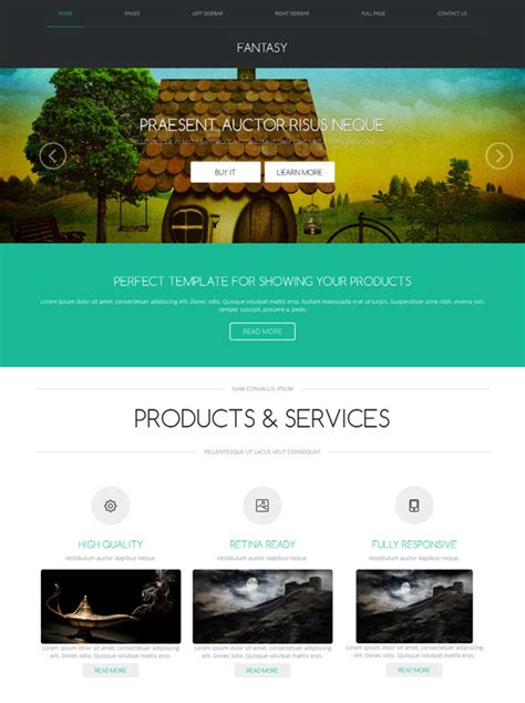 website templates fantasy imagination web template fantasy website templates