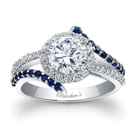 barkevs engagement ring  blue sapphires lbs