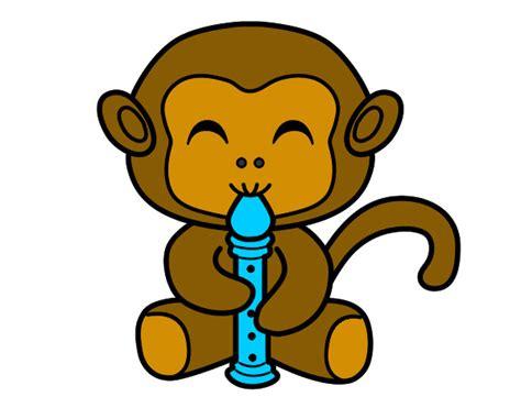 desenhos de animais macacos pintados e coloridos visitados pelos utilizadores de colorir