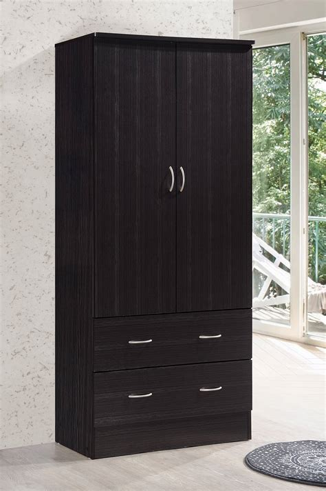Wardrobe With Drawers And Hanging by Wardrobe Storage Cabinet With 2 Drawers And Hanging Rod