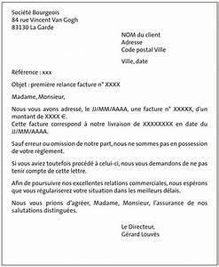 Modele De Lettre De Relance : lettre de relance client pour facture impay e ~ Gottalentnigeria.com Avis de Voitures