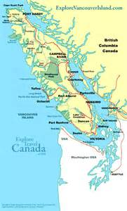 Map of Vancouver Island BC Canada