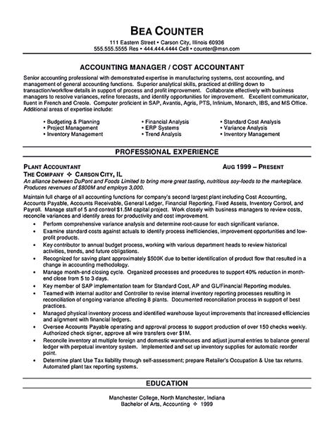 Accountant Resume by Accounts Payable Resume Template Accountant Resume