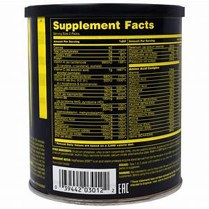 Universal Nutrition, Animal Pak, Training Supplement, 15 ...