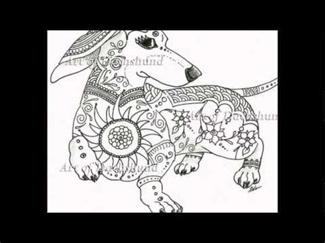 art  dachshund coloring book youtube