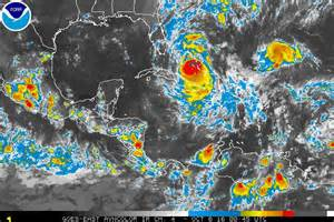 Hurricane in the Caribbean August 2017