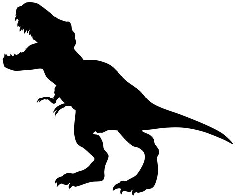 Silhouette Clipart Dinosaur Pencil And In Color