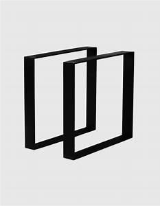 Pied De Table En Acier : pieds de table en acier carr s jeane origine metal ~ Teatrodelosmanantiales.com Idées de Décoration