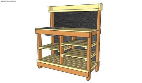 potting bench plans with sink images