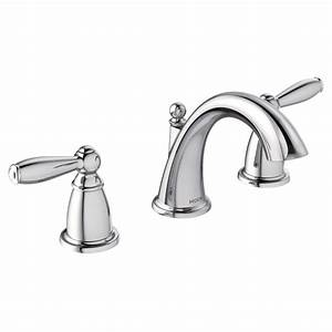 Moen Two Handle Chrome Finish Bathroom Faucet  U2013 Moen