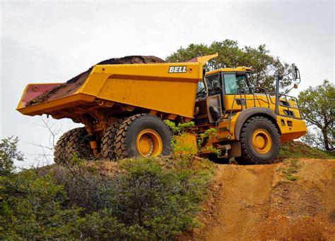 bell unveils  ton  artic dump truck aggregate
