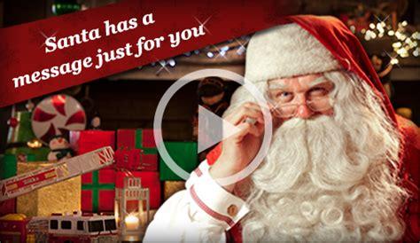 video message  santa  portable north pole