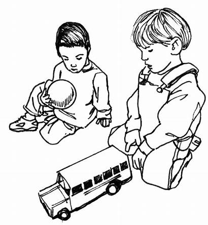 Coloring Pages Play Clipart Let Turns Take
