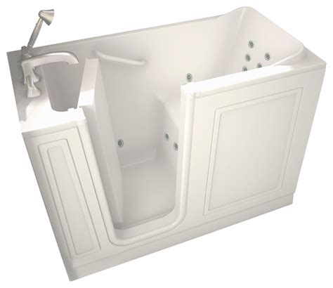 28 inch x 48 inch walk in whirlpool tub with left drain in