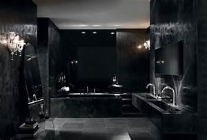 le robinet luxueux de fantini inspiration bain With salle de bain noir et argent