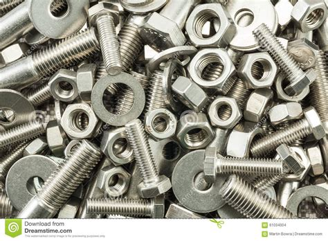 Nuts And Bolts Mix Stock Photo  Image 61034004