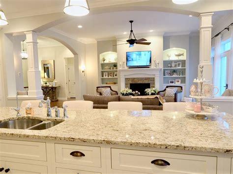 farmhouse kitchen cabinet open concept floor plan white kitchen sherwin williams 3695