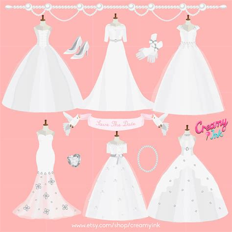 wedding dress  pearls clipart   cliparts