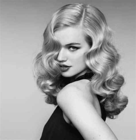 create  classic hollywood waves hair style