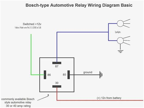 automotive relay wiring 5 pin diagram how with 12v