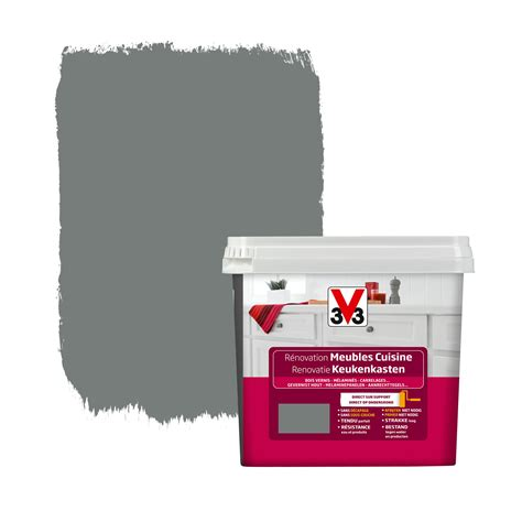 peinture v33 renovation cuisine peinture de rénovation meubles cuisine v33 satin carbonate 750 ml peintures spéciales papier