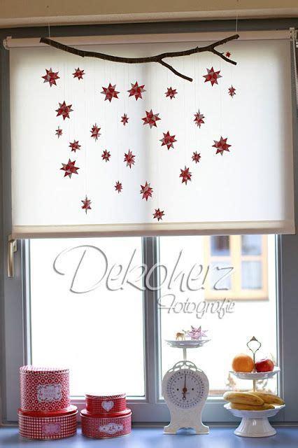 Herbst Deko Ast Fenster by Fr 246 Belsterne An Einem Ast Weihnachten Basteln