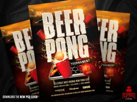 Beerpong Tournament Flyer Psd Template By Iamredsanity On