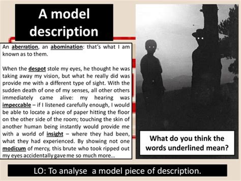 Level of response marking instructions AQA GCSE English Language Paper 1 Question 5 Model ...