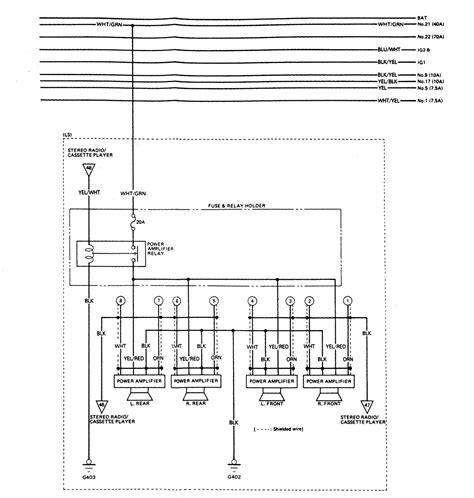 acura legend 1988 wiring diagram audio carknowledge