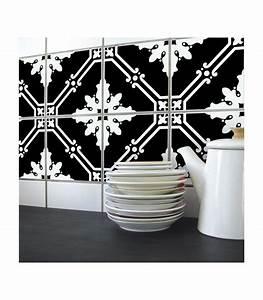 stickers pour carrelage de cuisine ou salle e bain en noir With carrelage autocollant pour salle de bain