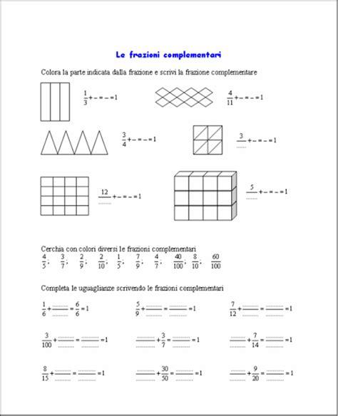 schede di matematica classe terza elementare da stare didattica matematica scuola primaria frazioni