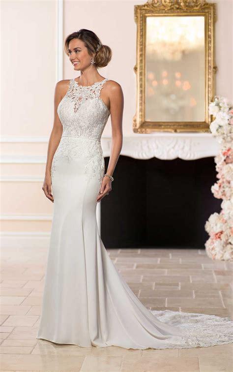 elegant backless wedding gown stella york wedding dresses