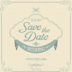 save the date wedding invitation free vector in adobe With wedding invitations ai template