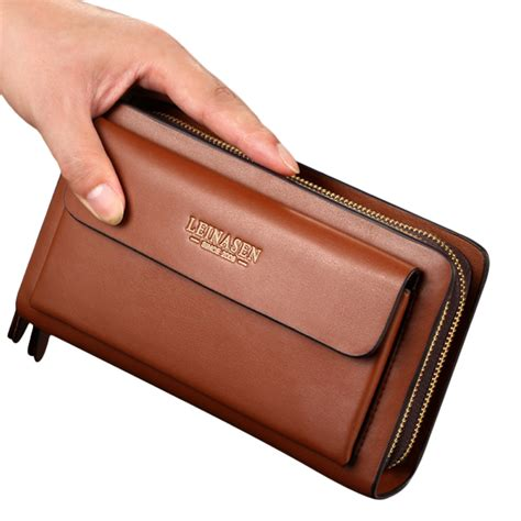 waterproof bag for wallet business clutches bag pu leather waterproof cell phone Waterproof Bag For Wallet