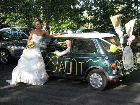 faire sa decoration de voiture mariage