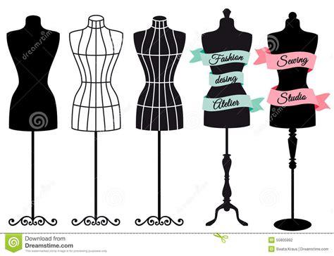fashion mannequins vector set stock vector illustration