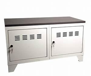 Meuble De Rangement Bas : petit meuble de rangement 2 porte pierre henry l800xprof ~ Dailycaller-alerts.com Idées de Décoration