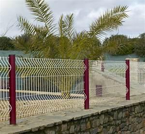 Cloture Et Grillage : cl ture de s curit pour piscine en grillage rigide blanc ~ Edinachiropracticcenter.com Idées de Décoration