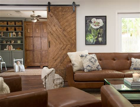 House Living Room by Remodelaholic Get This Look Fixer Pocket Door