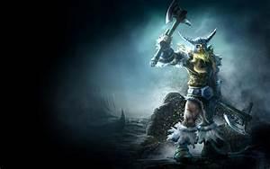 League of Legends fantasy art warriors weapons axe vikings ...