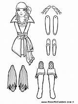 Coloring Puppet Puppets Paper Dolls Pirate Grace Cut Marionette Sheets Crafts Fairy Pirata Piratas Marioneta Piraten Proyecto Colouring Los Trekpop sketch template