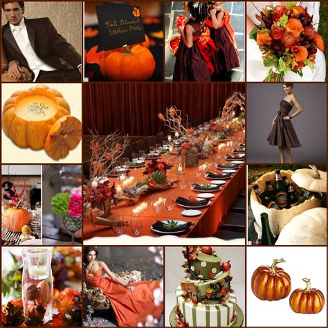 fall wedding themes with pumpkinscherry marry cherry marry