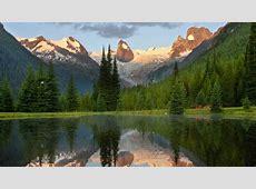 sunrise mountains landscapes british columbia lakes parks