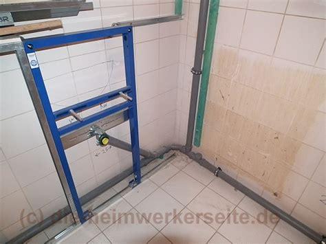 Vorwandinstallation Im Wc Selbst Einbauen by Wc Vorwandelement Einbauen Eckventil Waschmaschine