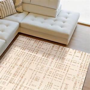 Tapis de luxe contemporain ecru et beige bali par angelo for Tapis contemporain luxe