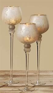 Kerzenständer Glas Hoch : glas windlicht rom teelichthalter edle glasform in matt gold 3er set condecoro ~ A.2002-acura-tl-radio.info Haus und Dekorationen