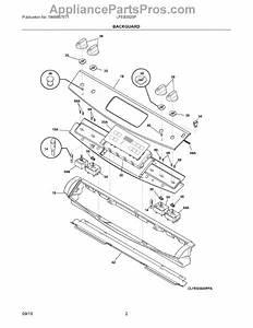 Parts For Electrolux Lfes3025pff  Backguard Parts